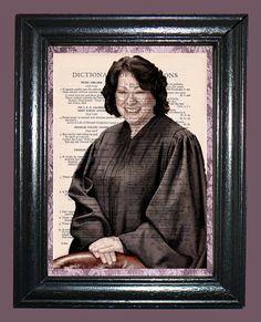 Sonta Sotomayer Supreme Court Judge Art  Vintage by CocoPuffsArt, $9.99