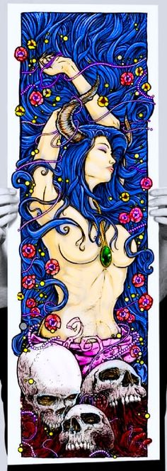 Re color of a very beautiful poster not better just different<br> Fantasy Kunst, Dark Fantasy Art, Dark Art, Anime Kunst, Anime Art, Yoga Symbole, Evvi Art, Arte Lowbrow, Tattoo Ideas