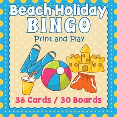 Here is a fun way to take a trip to the shore right in the classroom.  Kids will love playing this beach bingo game and they will be reviewing spelling and vocabulary as they're having fun .  Included are 36 vocabulary calling cards and 30 unique bingo game boards.