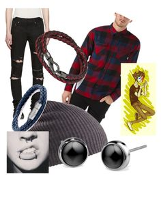 """""""Sollux Captor"""" by mikailaclonts on Polyvore featuring Vans, Yves Saint Laurent, Burton, Tod's and Tateossian"""