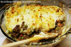 Irish Sheppard's Pie...meat is made with red wine and guiness beer....soooooo DELICIOUS!  The best I have eaten!