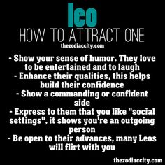 What attracts a leo man
