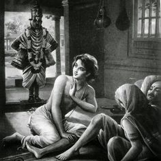 The Story of Vitthal and Pundalik - Pundalik is a symbol for Supreme, Unconditional Love. Pundalik's devotion caused Lord Vitthal to go looking for him. Pandharpur is home to the story of Vitthal and Pundalik. Krishna Leela, Krishna Radha, Hanuman, Lord Krishna Images, Radha Krishna Pictures, Lord Shiva Painting, Krishna Painting, Lord Rama Images, Indian Saints