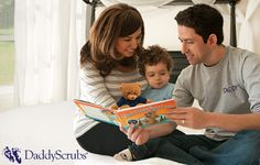 Read a #DaddyScrubs daddy-themed #book together with your growing #family!