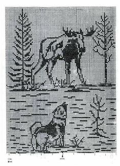 Filet Crochet Charts, Crochet Stitches Patterns, Knitting Charts, Knitting Patterns, Tapestry Crochet, Crochet Motif, Knit Crochet, Cross Stitching, Cross Stitch Embroidery
