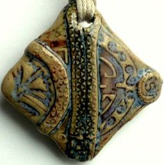 Ceramic Jewelry Pendant for Necklace  Multiple Elements