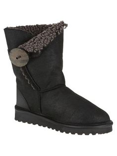 button boots - love Celtic Sheepskin boots generally, but these are particularly gorgeous Bearpaw Boots, Ugg Boots, Sheepskin Boots, Beautiful Inside And Out, Celtic, Uggs, Footwear, Button, How To Wear