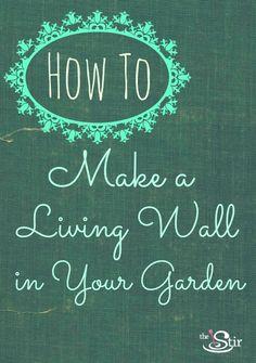 Great idea for a summer garden http://thestir.cafemom.com/home_garden/136526/heres_how_to_make_a?utm_medium=sm_source=pinterest_content=thestir