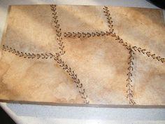 manualidades de mari: imitacion cuero con filtros de cafe usados Bottle Art, Bottle Crafts, Coffee Filters, Painting On Wood, Art Nouveau, Gold Necklace, Photos, Chain, Diamond