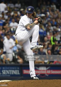0b5001f64f4 Milwaukee Brewers Pitcher Josh Hader delivers a pitch during a MLB... Mlb  GamesMilwaukee BrewersLos Angeles DodgersPitchWisconsinBaseball