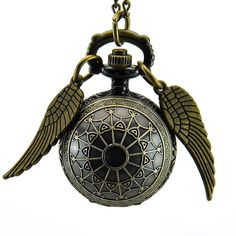 Amazon.com: Sinceda Harry Potter Spider Ball Angel Wings Silver Pocket... (13 CAD) ❤ liked on Polyvore featuring jewelry, necklaces, silver pocket watches, ball necklace, pocket watch, ball pocket watch and silver ball jewelry