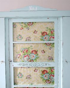 Shabby chic aqua closet by *ShabbyRosesCottage*, via Flickr