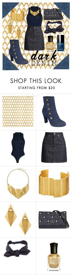 """dark denim❤"" by cecilvenekamp ❤ liked on Polyvore featuring Barclay Butera, Forever Link, Dr. Denim, Eve Denim, 8, Stephanie Kantis, Kate Spade, Colette Malouf and Deborah Lippmann"