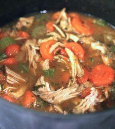 Homestyle Turkey Soup - Crock Pot - (1 cup = 2P+)