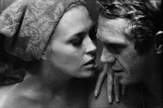 Steve McQueen and Faye Dunaway (by Bill Ray,1968)