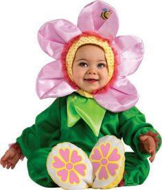niedliche Baby-Kostüme Ideen für Mädchen zu Fasching-Blume