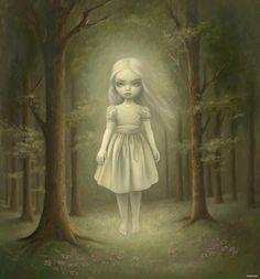 I have this, Mark Ryden ghost girl painting, on a necklace Mark Ryden, Arte Lowbrow, Psy Art, Desenho Tattoo, Gothic Art, Surreal Art, Dark Art, Art Blog, Amazing Art