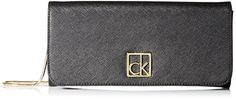 Women's Clutch Handbags - Calvin Klein Saffiano Clutch BlackGold One Size -- Read more reviews of the product by visiting the link on the image.