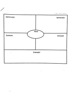 This vocabulary foldable is a blank template for the