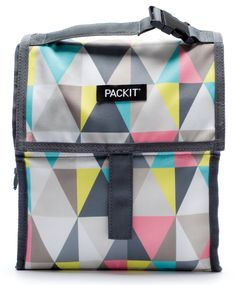 PackIt Freezable Lunch Bag with Zip Closure, Pastel Prism Healthy Diet Recipes, Online Bags, Louis Vuitton Damier, Diaper Bag, Road Trip, Packing, Zip, Stylish, Ice Packs