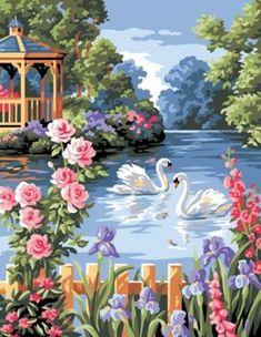 Landscape Art, Landscape Paintings, Watercolor Paintings, Beautiful Nature Wallpaper, Beautiful Birds, Colorful Paintings, Beautiful Paintings, Scenary Paintings, Graffiti Kunst