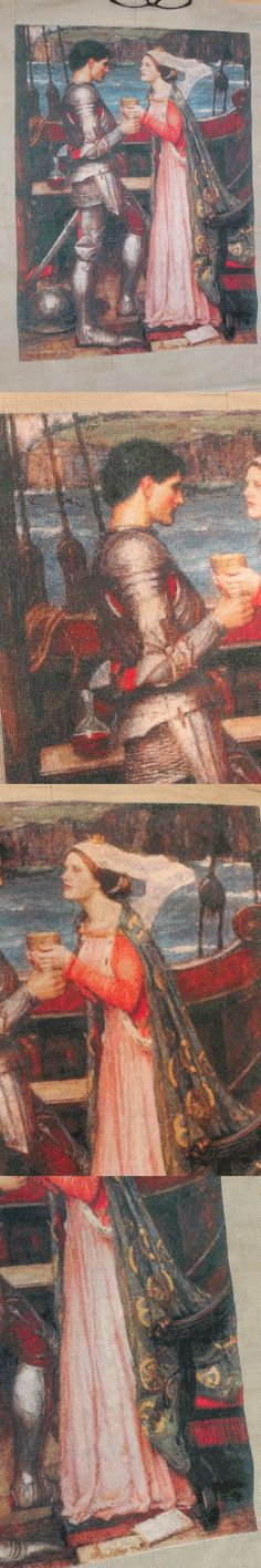 Other Needle Arts and Crafts 71184: Handmade Cross Stitch Tristan And Isolde Sharing Potion New Waterhouse Finished -> BUY IT NOW ONLY: $700 on eBay!
