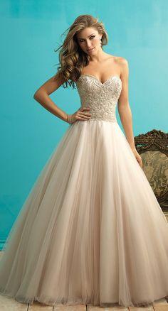 Allure Bridals Fall 2015 Wedding Dress. Hello, princess.