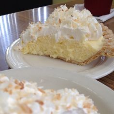 Sweetened toasted coconut is stirred into a homemade custard filling and poured into a pie shell. After the pie is chilled and set, it\\\'s covered with whipped topping and more toasted coconutA cream pie is a type of pie filled with a rich custard or pudding that is made from ...
