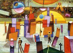 """Xul Solar - """"Palacios en Bría"""" - 1932"""