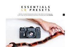 Essentials LR Presets by GOICHA on @creativemarket