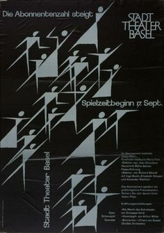 Stadt Theater Basel - Die Abonnentenzahl steigt - Spielzeitbeginn 17. Sept. - (...)-Plakat