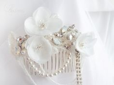 Bridal Hair Comb Retro Inspired - Crystal Bridal Head Piece Bijou Gatsby Style