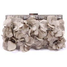VALENTINO Clutch bag ($870) ❤ liked on Polyvore featuring bags, handbags, clutches, purses, accessories, bolsas, women, valentino handbags, lace purse and flower purse
