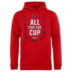0978683dc Washington Capitals Fanatics Branded Youth 2018 Stanley Cup Playoffs Bound  Behind The Net Pullover Hoodie – Red