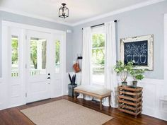 Joanna Gaines Decor Advice Gray and White Entryway