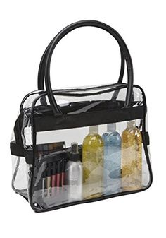 Large Clear PVC Makeup Artist Travel Set Bag Black ** Be sure to check out this awesome product.
