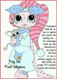Goeie Nag, Afrikaans Quotes, Sleep Tight, Good Night, Smurfs, Family Guy, Fictional Characters, Mornings, Sayings