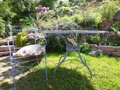 gartentisch tisch antik landhausstil gartenaccessoires gartenmÖbel, Gartenarbeit ideen