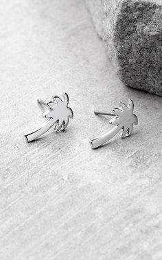 Beachside Babe Silver Palm Tree Earrings via @bestfashionhq