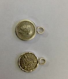 Sterling silver earrings using silver threepenny pieces