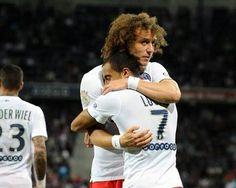 David Luiz e Lucas Moura