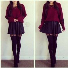 Related Keywords & Suggestions for Black Skater Skirt Outfits Winter