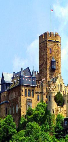 Lahneck Castle is a medieval 13th-century castle located in the city of Lahnstein in Rhineland-Palatinate, Germany.