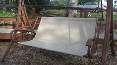 Garden swing. Replace ripped canvas with lawn furniture re ...