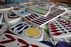 A collection Rorstrand design sandwich boards