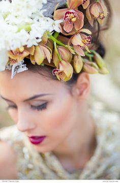 Get creative with your floral headpieces | Make-Up: Yolande du Toit | Floral Design & Concepts: Fleur le Cordeur