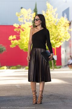 Alerta Tendencia: Falda Plisada Midi y Sandalias Isabel Marant | With Or Without Shoes - Blog Moda Valencia España