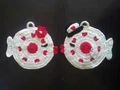 Presine a uncinetto. Pagina facebook Clara Fili e colori. Crochet pot holder