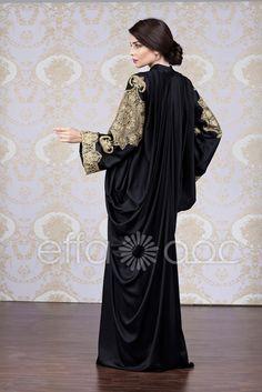 Effa Collection :: Abaya designs from Effa - Dubai, UAE Arab Fashion, Vogue Fashion, Muslim Fashion, African Fashion, Collection Eid, Winter Collection, Khaleeji Abaya, Middle Eastern Fashion, Abaya Designs