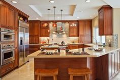 Contemporary Kitchen - San Diego - Sapele Cabinets